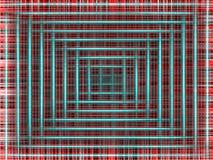 Hypnotic rode vierkante achtergrond royalty-vrije stock fotografie