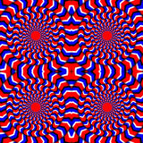 Hypnotic Of Rotation. Perpetual Rotation Illusion. Background With Bright Optical Illusions of Rotation. Optical Royalty Free Stock Photos