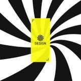 Hypnotic spiraalvormige achtergrond Patroon met optische illusie Zwart-wit ontwerp Gestreepte achtergrond Vector illustratie stock illustratie
