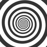 Hypnotic spiraalvormige, psychedelische werveling stock illustratie