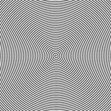 Hypnotic Spiral Abstract Background. Retro Style. Black And White Royalty Free Stock Photo