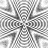 Hypnotic Spiral Abstract Background. Retro Style. Black And White Stock Photos