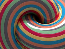 Hypnotic Spiral. Abstract Color Hypnotic Spiral. 3d vector illustration