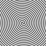 Hypnotic Spiral Background. Vinyl Grooves. Optical Illusion.  Stock Image