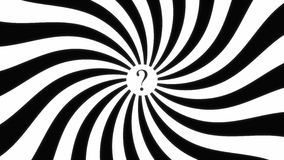 Hypnotic spiral dis question mark Stock Images