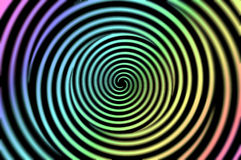 Hypnotic Spiral disc Stock Photography