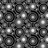 Hypnotic Spiral Pattern. Seamless Hypnotic Pattern Black and white background Royalty Free Stock Image