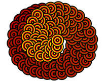 Hypnotic spiral snake background Stock Photos