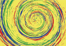 Hypnotic spiral swirl background Royalty Free Stock Images