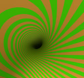 Hypnotic Spiral Stock Image