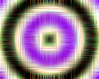 Hypnotic squares and circles background Royalty Free Stock Images