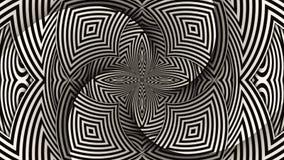 Hypnotic Stripe Shapes Illustration. Hypnotic Stripe Flower Shapes Illustration vector illustration