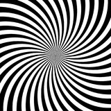 Hypnotic swirl lines abstract white black optical illusion vector vortex pattern background Royalty Free Stock Images
