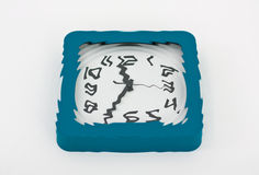 Hypnotic wall clock. Hypnotic effect of a clock by watching the time passing by Stock Photos