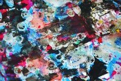 Hypnotic wasachtige donkerblauwe levendige kleuren, contrasten, wasachtige creatieve achtergrond Stock Afbeeldingen