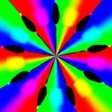 Hypnotic wervelingstextuur met velen kleur royalty-vrije illustratie