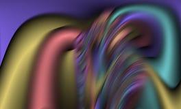 Hypnotiques colorés lissent le fond abstrait de vagues, fond abstrait Images stock