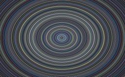 Hypnotischer Kreis, musikalische Platte auf blauem Hintergrund Stockbild
