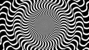 Hypnotisches gewelltes Rundschreiben lizenzfreie abbildung
