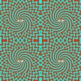 Hypnotisches Retro- nahtloses Muster Stockfoto