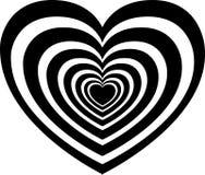 hypnotisera vektor för hjärtaillustration Royaltyfri Fotografi