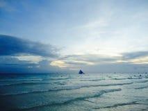 Hypnotisierender Sonnenuntergang Lizenzfreie Stockfotos