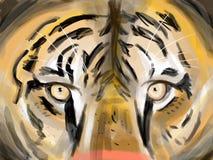 Hypnotisk blick stock illustrationer