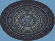 Hypnotisk cirkel, musikalisk platta på blå bakgrund Royaltyfria Foton