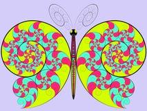 Hypnotisk fjäril för färg Royaltyfria Bilder