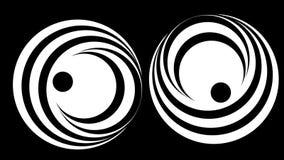 Hypnotisk spiral illusion vektor illustrationer
