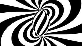 hypnotisk spiral Svartvit hypnos royaltyfri illustrationer