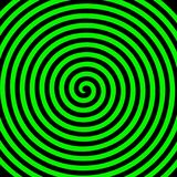 Hypnotisk spiral tapet för grön virvel för svartrundaabstrakt begrepp royaltyfri illustrationer