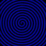 Hypnotisk spiral tapet för svart virvel för blåttrundaabstrakt begrepp stock illustrationer