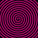 Hypnotisk spiral tapet för svart virvel för lilarundaabstrakt begrepp royaltyfri illustrationer