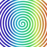 Hypnotisk spiral tapet för vit virvel för regnbågerundaabstrakt begrepp stock illustrationer