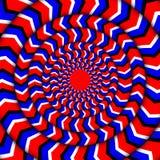 Hypnotiskt av rotation Evig rotationsillusion Bakgrund med ljusa optiska illusioner av rotation optiskt Royaltyfria Bilder
