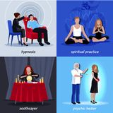 Hypnotism Extrasensory Icon Set Royalty Free Stock Photos