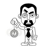 Hypnotist with a clock in a shirt and tie vector. Illustration vector illustration