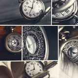 Hypnotist. Clock pocket watch watch old surreal machine part Royalty Free Stock Image
