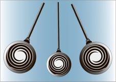 Hypnotist's pendulum on chain. Hypnotist's spiral pendulum on chain vector illustration