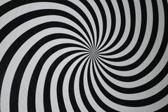 Hypnotize. Spiral Background, black and white Stock Photo