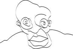 Hypnotized Crazy Eyes. Vector illustration of a guy with crazy eyes Royalty Free Stock Photo