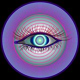 Hypnotizing Ansicht Lizenzfreie Stockfotos