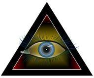 Hypnotizing view royalty free illustration