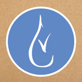 Hypoallergenic icon,  sign of a drop with a tick Royalty Free Stock Photography
