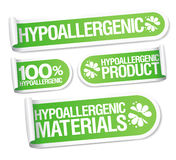 Hypoallergenic products stickers. Royalty Free Stock Photo