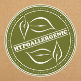 Hypoallergenickenteken, pictogram, stickerlay-out Stock Foto's