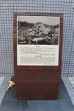 Hypocenter атомной бомбы Хиросима Стоковые Фото