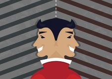 Hypocrisy - sayning one, doing another, best friend of populism stock illustration