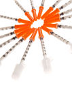 Hypodermic needles Royalty Free Stock Images